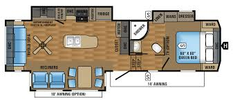 Bunkhouse 5th Wheel Floor Plans by 2017 Jayco Eagle Fifth Wheel Travel Trailer Rv Centre