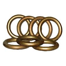 historical gold wood rings set 7 for use with 2