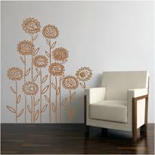 mod flower set wall decals stickers high style wall decals wall modern field flowers