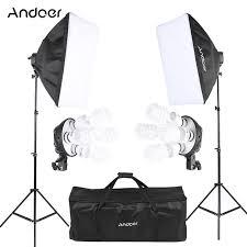 home photography lighting kit andoer studio photo lighting kit with 2 softbox 2 4in1 bulb socket 8