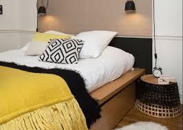 deco de chambre chambre jaune moutarde les coloris à associer clemaroundthecorner