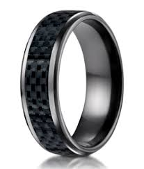 black wedding band mens black titanium wedding band carbon fibre inlay