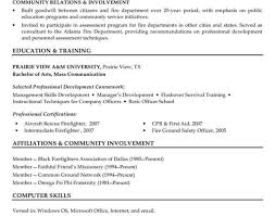 resume firefighter resume template awesome firefighter resume 8
