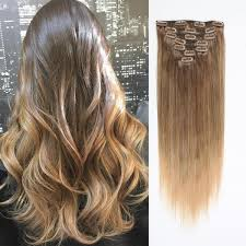 ombre clip in hair extensions clip in hair extension ombre brown t 4m 18