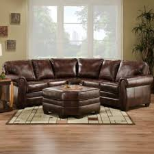 Leather Sectional Living Room Furniture Living Room On Bombay Arm Brown Leather Sofa Sectional Living Room