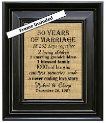 framed 50th wedding anniversary 50th anniversary gifts 50th