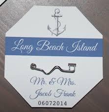 beach badge place cards or escort cards beach weddings