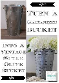 how to turn a new galvanized bucket into a vintage style olive
