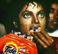 Michael Jackson Popcorn Meme - michael jackson eating tide pods like popcorn tide pod challenge