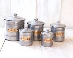 vintage canisters for kitchen vintage canister etsy