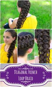 cute girl hairstyles how to french braid diagonal french loop braid cute girls hairstyles cute girls