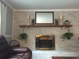 how to whitewash your brick fireplace u2022 a brick home