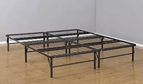 amazon com kings brand metal bi fold platform bed frame base
