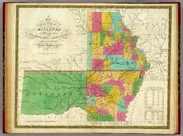 Missouri State Map State Of Missouri And Territory Of Arkansas David Rumsey