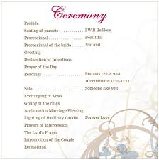 program for wedding ceremony template lutheran wedding ceremony outline search wedding