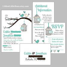 wedding invitations inserts diy birdcage wedding invitation inserts by littlestlittlebean