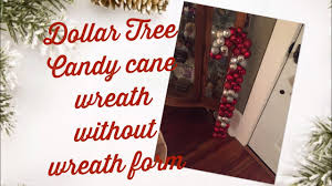 Christmas Tree Wreath Form - dollar tree candy cane wreath without wreath form youtube