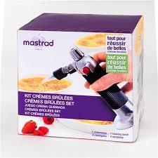 chalumeau de cuisine mastrad kit crème brûlée 4 coupelles avec chalumeau de cuisine mastrad la