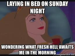 Meme Beauty - laying in bed on sunday night wondering what fresh hell awaits me in