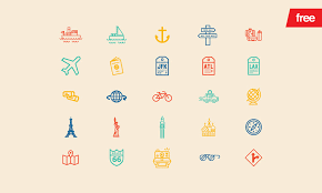 Travel 30 vector icons vector guild