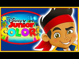 disney junior color jake neverland pirates coloring book