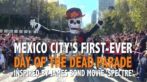 mexico city halloween james bond film spectre inspires mexico city u0027s first day of the