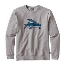 fish sweater patagonia s flying fish midweight crew sweatshirt