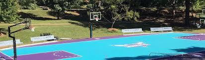 backyard basketball court flooring indoor u0026 outdoor sports surfaces mtj sports
