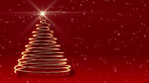 abstract christmas tree festive red background 3d animated