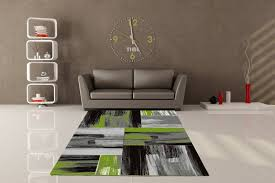 grand tapis de cuisine tapis vintage vert pour salon