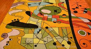 Orange Modern Rug by Miro Rugs Abstract Wall Hangings Orange Carnival Accent Wool