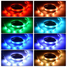 pc led light strips 200cm usb rgb colour changing led strip tv background back light