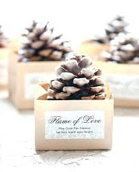 favor ideas idea for wedding favors pine cone starter favor wedding favor