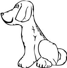 boxer dog easy line art coloring page free printable coloring