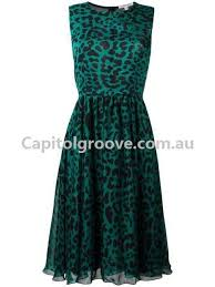 classical elegance borbonese dresses leopard print dress green
