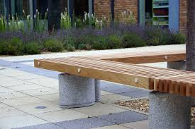 wooden tree guard with integrated public bench pinewood infant