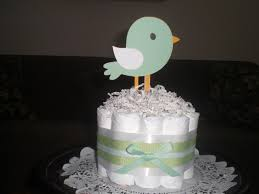 bird baby shower diaper cake centerpieces other colors