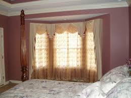 furniture bay window curtain rod with four poster bed and