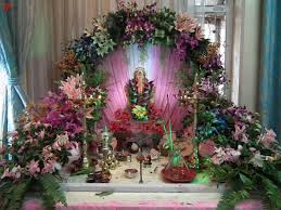 Home Temple Decoration by Festive Decoration For Ganpati My Decorative