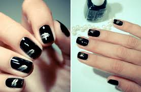 black and silver nail designs ideas and 20 photos