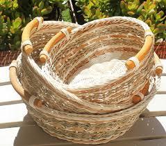 amazon com rt450120 3 round wicker rattan bread or storage