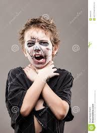 screaming walking dead zombie child boy stock photo image 49995762