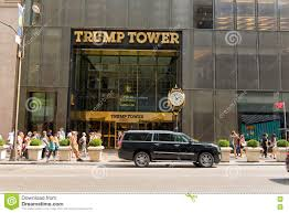 trump tower gold entrance to trump tower in manhattan nyc editorial photo image
