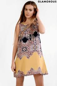 buy glamorous petite printed shift dress from the next uk online shop