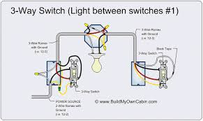 wiring diagram for a 3 way light switch