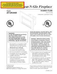 heat u0026 glo fireplace heat u0026 glo fireplace at grand user manual