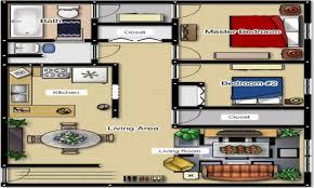 Floor Plans Under 1000 Sq Ft 2 Bedroom Bath House Plans Two Floor Inspired For Sq Ft Modern