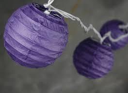 White Paper Lantern String Lights by Paper Lanterns Purple