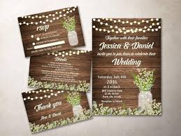 Blank Wedding Invitation Kits Wedding Invitation Kit Printable Rustic Wedding Invitation Baby
