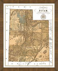 map of utah map of utah a great framed map that s ready to hang
